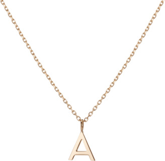 AUrate New York Mini Gold Letter Charm Pendant