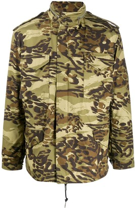 Givenchy Camouflage-Print Military Jacket