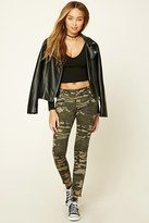 Forever 21 FOREVER 21+ Paneled Camo Pants