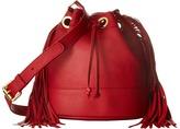Moschino Fringes Bucket Bag Handbags