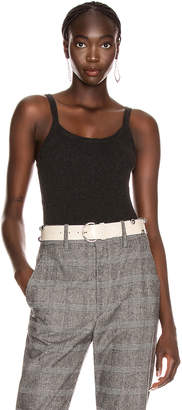 Enza Costa Cashmere Pointelle Tank in Charcoal | FWRD