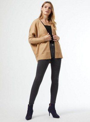 Dorothy Perkins Womens Camel Edge To Edge Cardigan