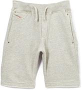 Diesel Gray Melange Active Shorts - Boys