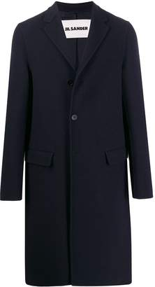 Jil Sander single-breasted maxi coat