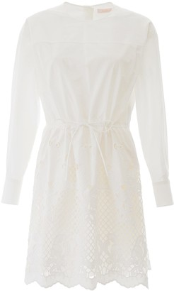 See by Chloe Dress With Lace Hem