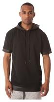 Jackson Men's Short Sleeve Layered Hoodie Black