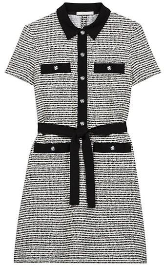 Maje Renala Tweed Shirtdress