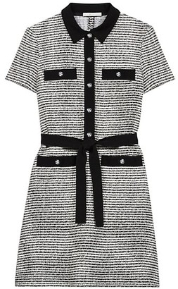 Maje Renala Tweed Shirtdress