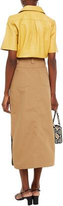 Ganni Woven Midi Skirt