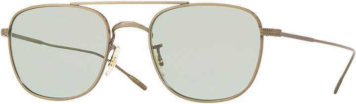 Oliver Peoples Men's Row Kress Square Metal Sunglasses