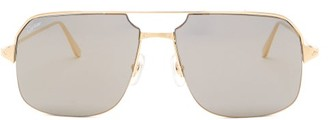 Cartier Bronze Aviator Metal Sunglasses - Bronze