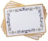 """Sur La Table Cork-Backed Deruta-Style Placemats, 11.5"""" x 15.75"""", Set of 4"""