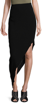 Nicole Miller Celine Crinkle Satin Asymmetrical Skirt