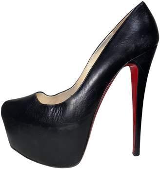 Christian Louboutin Daffodile Black Leather Heels