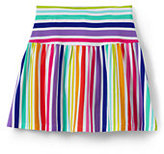 Lands' End Toddler Girls Pattern Knit Skort-Rainbow Stripe