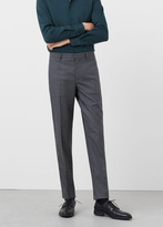MANGO MAN Modern Slim-Fit Patterned Suit Trousers