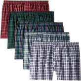 Fruit of the Loom Men's 5Pack Plaid Boxer Shorts Boxers Underwear 4XL