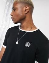 SikSilk ringer t-shirt in black