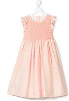 Cashmirino - Frill detail flared dress - kids - Cotton/Linen/Flax - 2 yrs