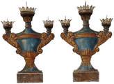 One Kings Lane Vintage Italian Painted Wood Candleholders