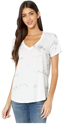LAmade Vintage Tee with Tie-Dye (Silver Sconce) Women's Clothing