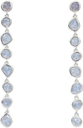 Monica Vinader Siren Mini Nugget Cocktail Blue Lace Agate earrings