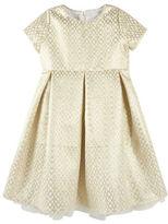 Andy & Evan Girls 2-6x Jacquard Holiday Pattern Dress