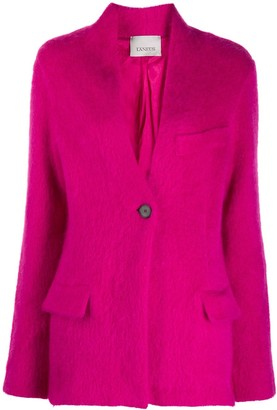 Laneus Lapelless Buttoned Blazer