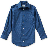 Class Club Little Boys 2T-7 Dotted Print Poplin Sportshirt