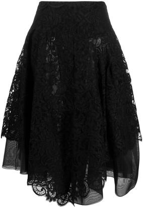 Ermanno Scervino Asymmetric Flared Skirt