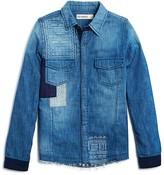 Blank NYC BLANKNYC Girls' Denim Patchwork Shirt - Sizes S-XL