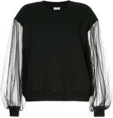 CITYSHOP sheer sleeves blouse