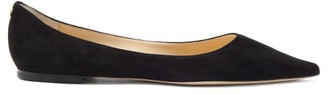 Jimmy Choo Love Suede Flats - Black