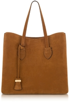 Coccinelle Celene Brown Suede Tote Bag