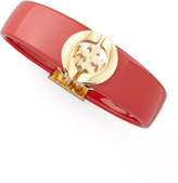 Tory Burch Logo-Hinge Enamel Bracelet, Red
