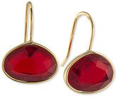 Lauren Ralph Lauren Gold-Tone Horizontal Oval Stone Drop Earrings