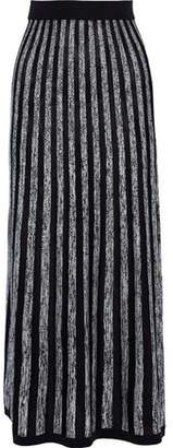 Sonia Rykiel Striped Silk And Cotton-blend Maxi Skirt