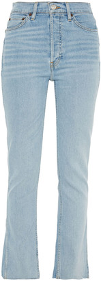 RE/DONE Faded High-rise Slim-leg Jeans