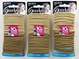 Goody Blonde Thick Hair Elastics 30 Count (Pack of 3)