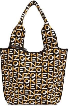 Kenzo Small Logo Jacquard Tote Bag