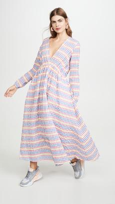 Mira Mikati Deep V Maxi Dress