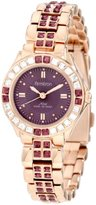 Swarovski Armitron Women's 75/3689VMRG Amethyst Colored Crystal Accented Rose Gold-Tone Watch