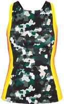 NO KA 'OI No Ka'Oi - Moku Printed Stretch Top - Black
