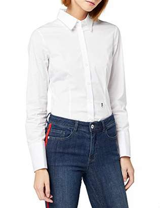 Seidensticker Schwarze Rose Women's Bodybluse Langarm slim fit uni bügelfrei Slim Fit Blouse,CM (Manufacturer Size: CM)