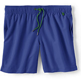 Lands' End Men's 9 Inch Solid Volley Swim Short-Charcoal Gray