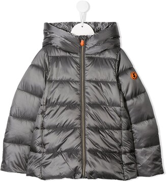 Save The Duck Kids Padded Hooded Logo Coat