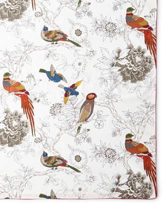 "Handprint Bird & Floral Tablecloth, 72"" x 108"""