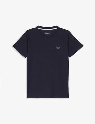 Emporio Armani Logo cotton T-shirt 4-16 years