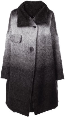 Taylor Magnitude gradient single-breasted coat
