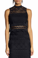 KENDALL + KYLIE Sleeveless Crotchet Top
